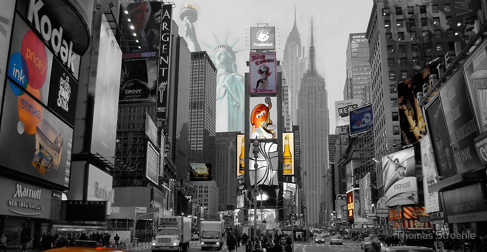 Iconic NY City  by Thomas Stroehle