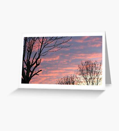 PINK SKY AT NIGHT  Greeting Card
