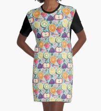 Fruity Hot Air Balloons  Graphic T-Shirt Dress