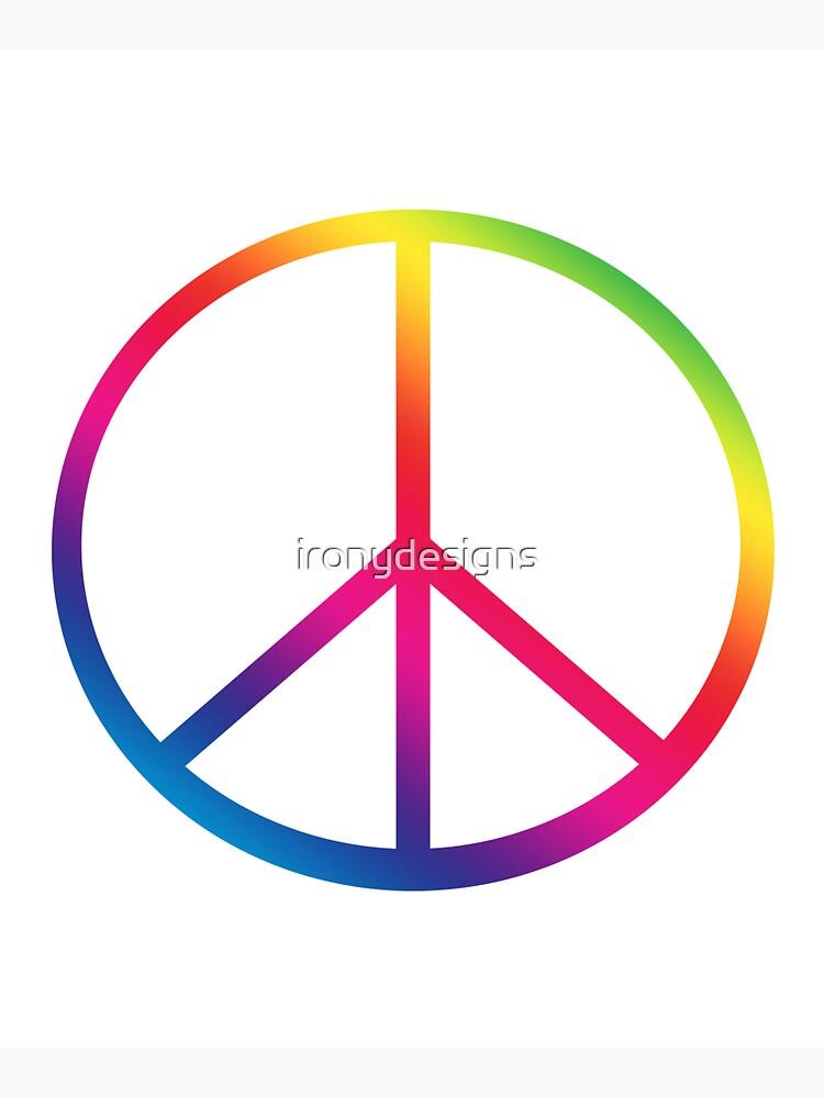 Rainbow Peace Symbol by ironydesigns