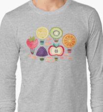 Fruity Hot Air Balloons  Long Sleeve T-Shirt