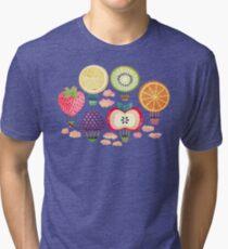 Fruity Hot Air Balloons  Tri-blend T-Shirt