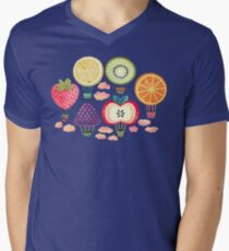 Fruity Hot Air Balloons  V-Neck T-Shirt