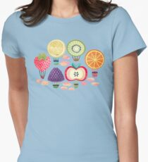 Fruity Hot Air Balloons  Fitted T-Shirt