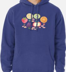 Fruity Hot Air Balloons  Pullover Hoodie