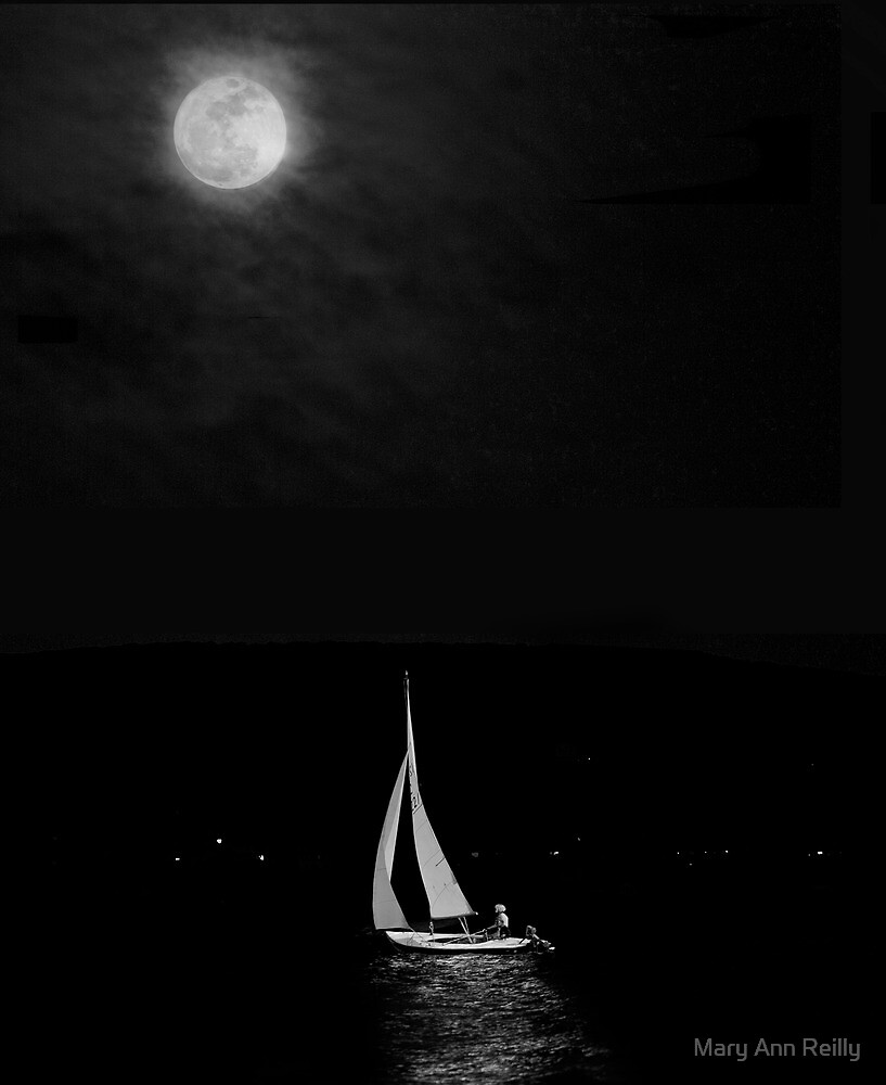 Sailing through Moonlight by Mary Ann Reilly