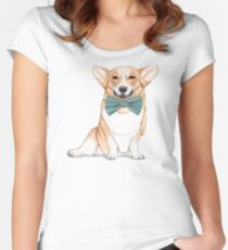 Corgi Dog Women's Fitted Scoop T-Shirt