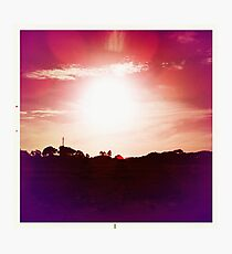 Red Hot Sunset Photographic Print
