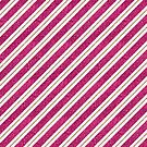 Neon pink faux gold glitter modern stripes pattern by Kicksdesign