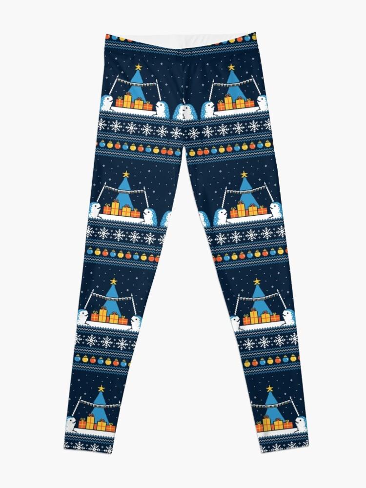 Alternate view of Christmas Narwhals Leggings