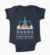 Christmas Narwhals Short Sleeve Baby One-Piece
