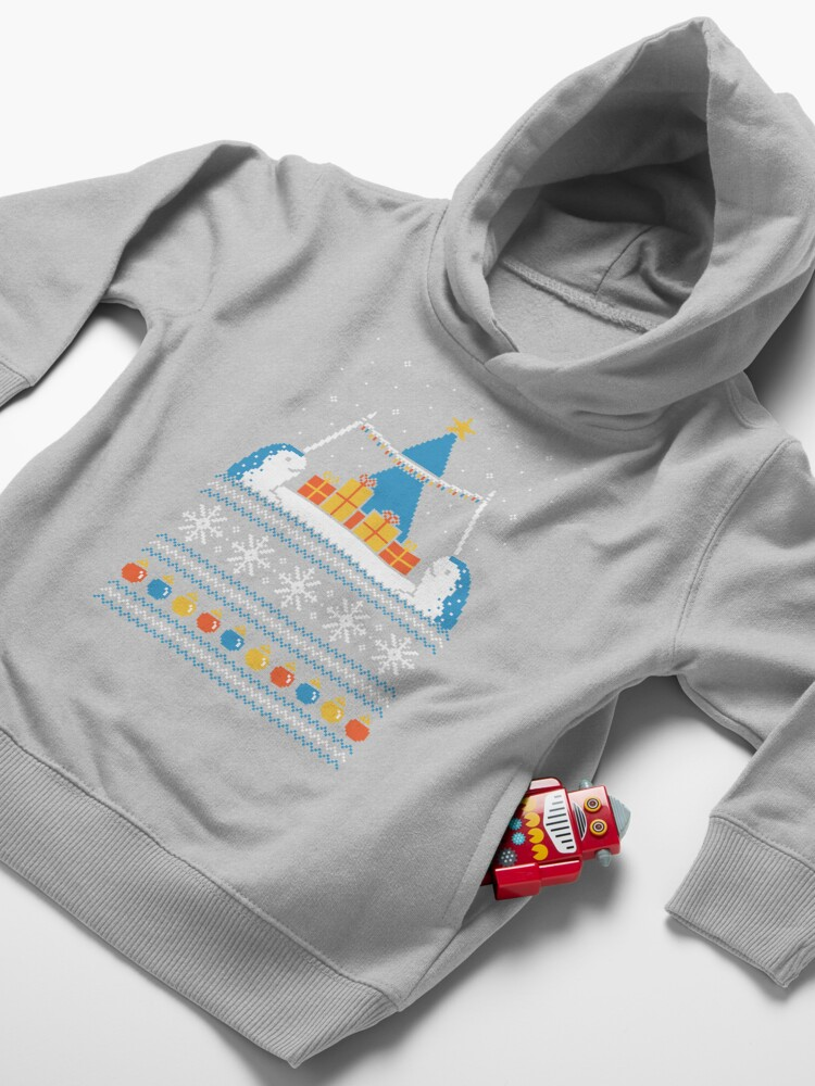 Alternate view of Christmas Narwhals Toddler Pullover Hoodie