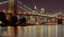 NYC Brooklyn Bridge at night by Martin Dingli