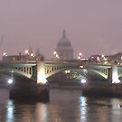 St Pauls over London Bridge before sunrise by Hucksty