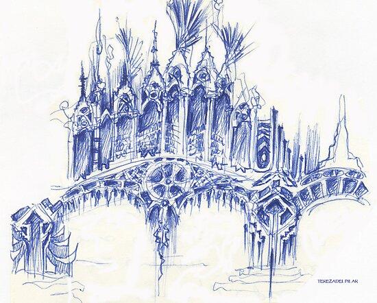 sketch for a bridge by terezadelpilar ~ art & architecture