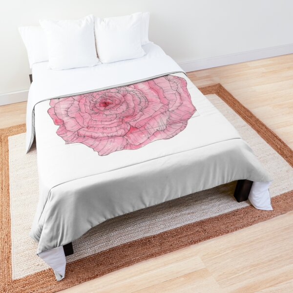 Watercolor Peony Comforter