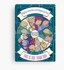 """Manatee horoscope - """"this is not your day"""" perpetual horoscope works for every sign Canvas Print"""