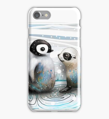 Penguin Chick and Baby Seal iPhone Case/Skin