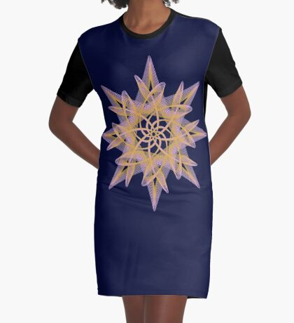 Delicate Star  Graphic T-Shirt Dress