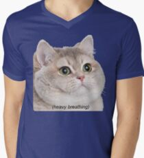 Heavy Breathing Cat- Improved T-Shirt