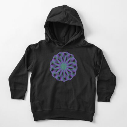 Spirograph with green and violet Toddler Pullover Hoodie