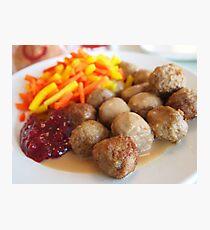 Ikea meatballs Photographic Print