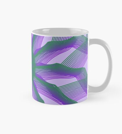Spirograph with green and violet Mug
