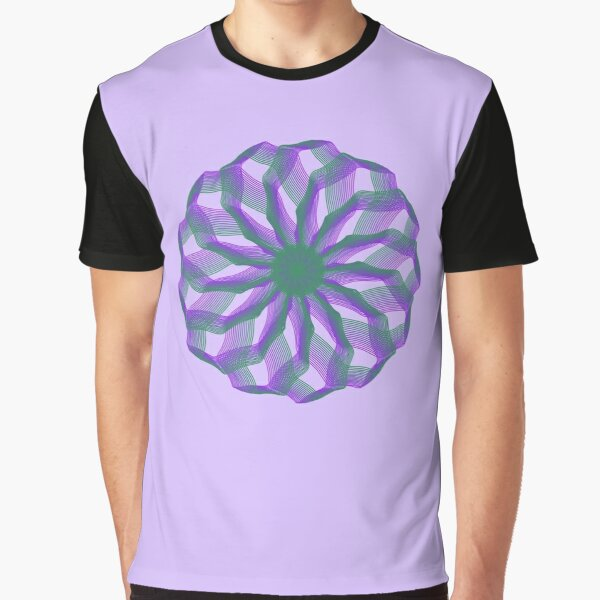 Spirograph with green and violet Graphic T-Shirt