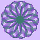 Spirograph with green and violet by Shapes-Mania