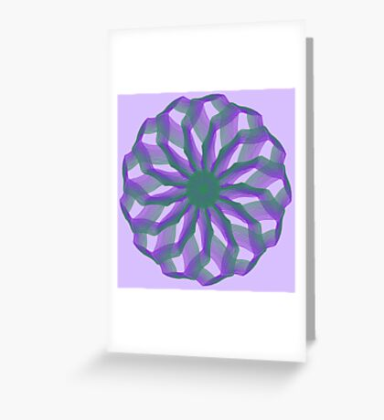 Spirograph with green and violet Greeting Card