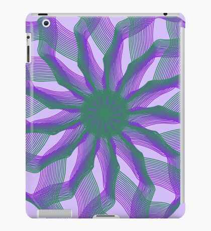 Spirograph with green and violet iPad Case/Skin