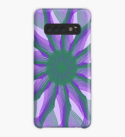 Spirograph with green and violet Case/Skin for Samsung Galaxy