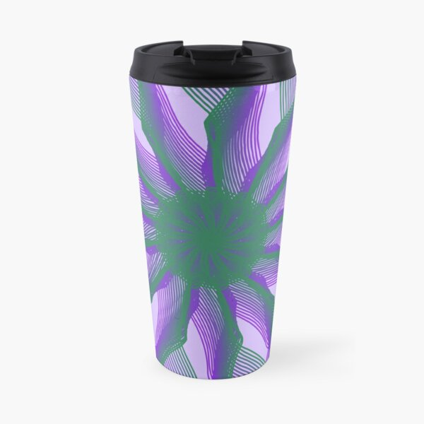 Spirograph with green and violet Travel Mug
