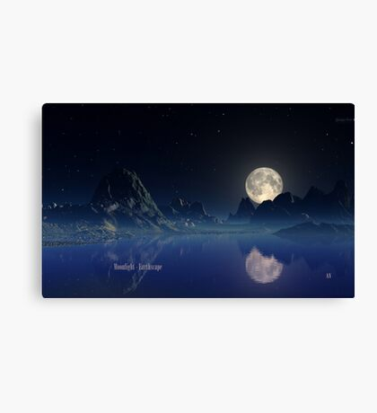 Moonlight - Earthscape Canvas Print