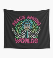 Peace Among Worlds neon Tapestry