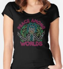 Peace Among Worlds neon Fitted Scoop T-Shirt
