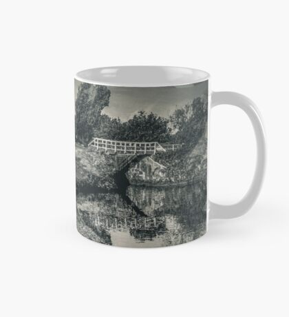 Canal and bridge in black and white  Mug