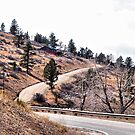 Scenic Drive on the Road to Carter Lake by Barb Miller