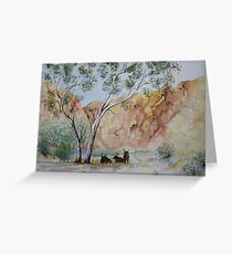 Afternoon Shade Watercolour Painting  Greeting Card