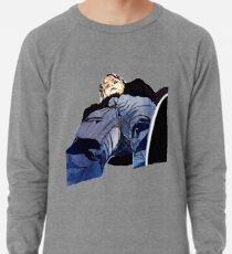 Man in jeans, ant perspective, fabric collage - faith and truth Lightweight Sweatshirt