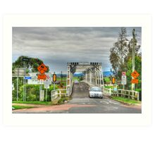 Confusing Road Signs, Morpeth, NSW Art Print