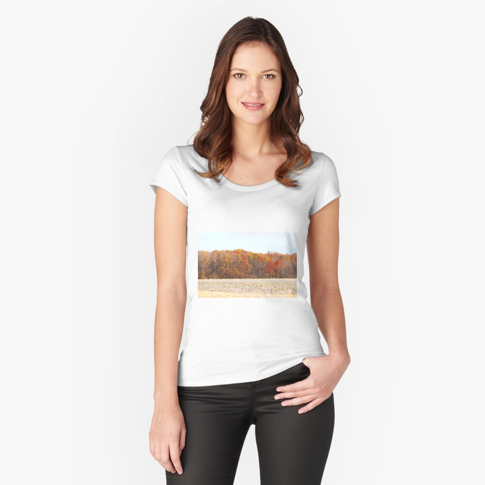 Autumn's Last Roar in Western New York Fitted Scoop T-Shirt