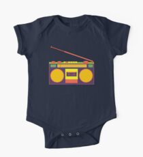 boombox - old cassette - Devices Short Sleeve Baby One-Piece