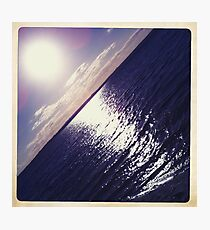 Hipsta Gradient Series- Sunset ripple effects No.1 Photographic Print