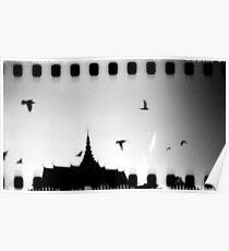 palace sky, phnom penh, cambodia Poster