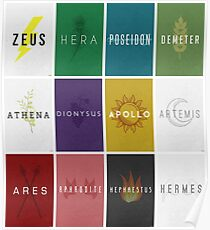 The Twelve Olympians - MOSIAC Poster