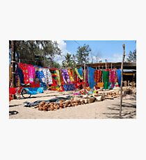 A TYPICAL AFRICAN STREET MARKET - MOZAMBIQUE Photographic Print