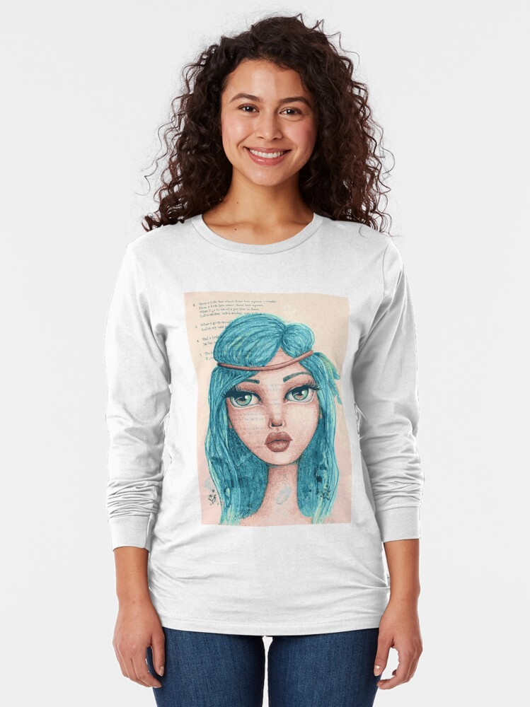 Alternate view of Feathers in Her Hair Long Sleeve T-Shirt