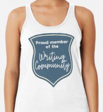 Proud Member of the Writing Community Racerback Tank Top