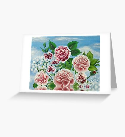 Carnation Reflections Greeting Card